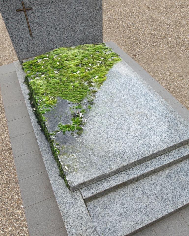 Entretenir une pierre tombale